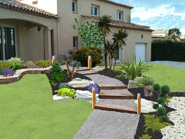 Exemple de jardin for Exemple de decoration de jardin